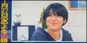 2021年1月27日の松島聡の黒髪ストレートヘアー